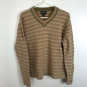 Woolrich Woven Knit V-Neck Sweater
